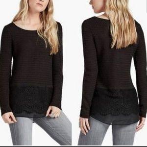 Lucky Brand Black Long Sleeve knit Top